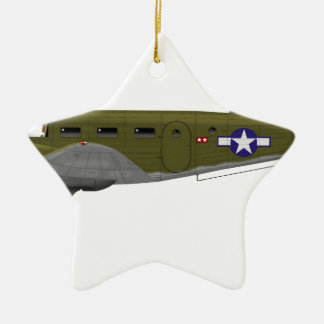 Beech C-45 Expeditor Army Air Corps Double-Sided Star Ceramic Christmas Ornament