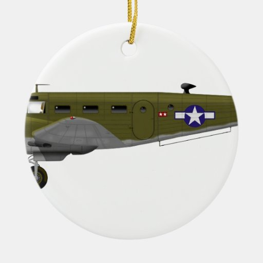 Beech C-45 Expeditor Army Air Corps Christmas Ornaments