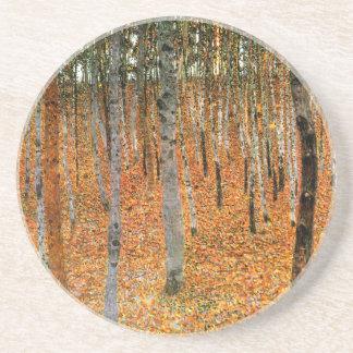 Beech Forest by Gustav Klimt Coaster