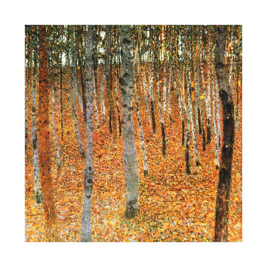 Beech Forest by Gustav Klimt Fine Art Canvas