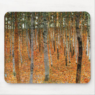 Beech Forest by Gustav Klimt Mouse Mat