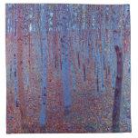 Beech Forest by Gustav Klimt Napkin