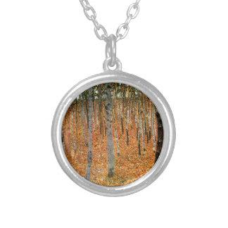 Beech Forest by Gustav Klimt Necklace