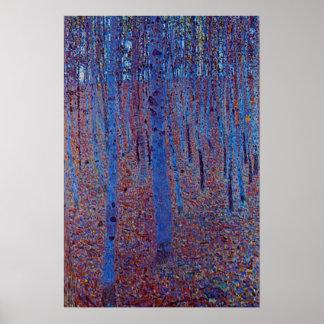 Beech Forest by Gustav Klimt Poster