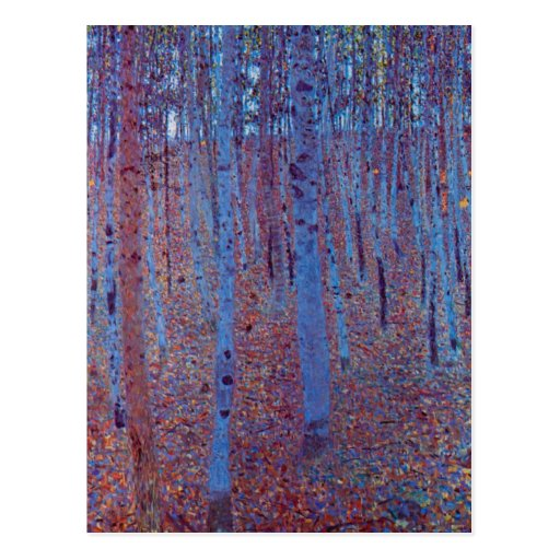 Beech Forest by Gustav Klimt, Vintage Art Nouveau Postcards