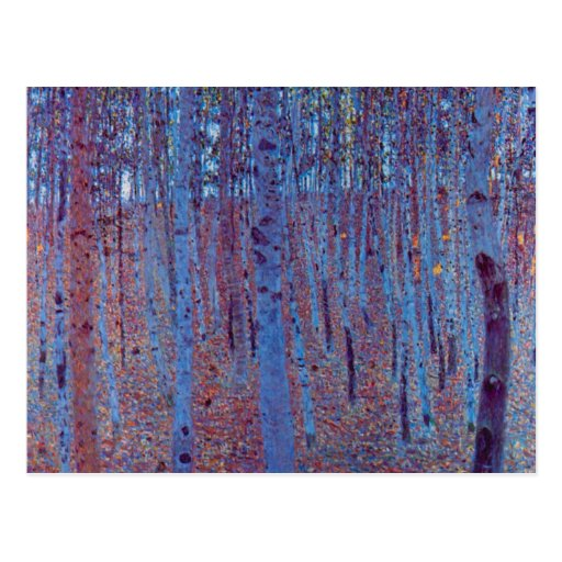Beech Forest by Gustav Klimt, Vintage Art Nouveau Post Cards
