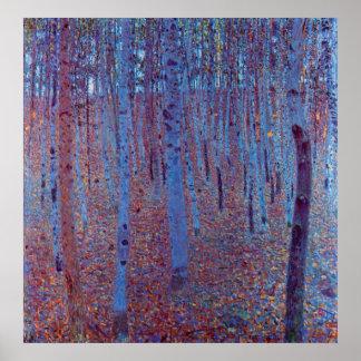 Beech Forest by Gustav Klimt Vintage Art Nouveau Print
