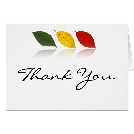 Beech Forest in Green, Gold, Red Thank You Card