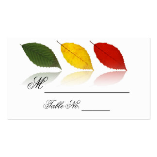 Beech Forest - Leaf Pattern in Green, Gold and Red Double-Sided Standard Business Cards (Pack Of 100)