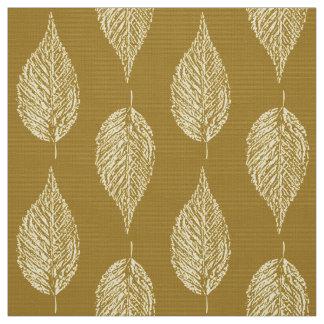Beech Leaf Chalk Print, Mustard Yellow / Gold Fabric