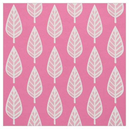 Beech leaf pattern - Hot pink and white