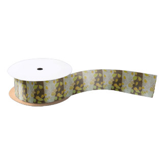 Beech Leaves Satin Ribbon