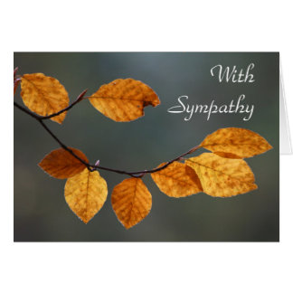 Beech leaves 'With sympathy' card