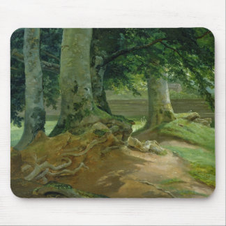 Beech Trees in Frederiksdal near Copenhagen Mouse Mat