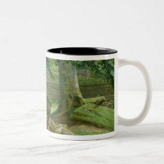 Beech Trees in Frederiksdal near Copenhagen Two-Tone Coffee Mug