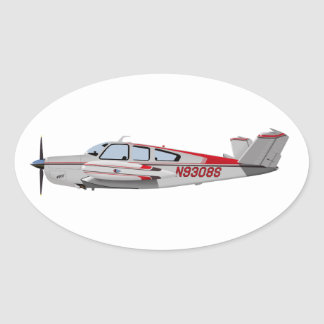 Beech V-35 Bonanza 453453 Oval Sticker