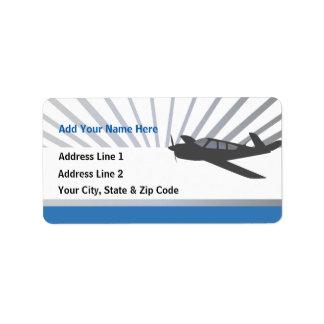 Beechcraft Aircraft Address Label