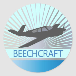 Beechcraft Aircraft Classic Round Sticker