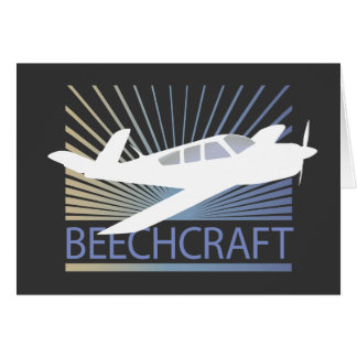 Beechcraft Aircraft Greeting Card