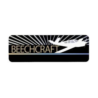Beechcraft Aircraft Return Address Label