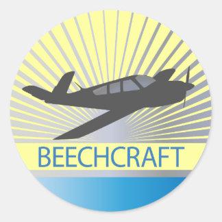 Beechcraft Aircraft Round Sticker