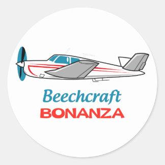 Beechcraft Bonanza Round Sticker