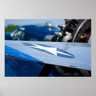 Beechcraft Wing Poster