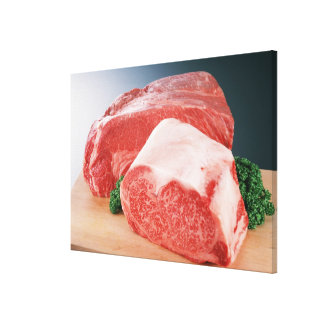 Beef 3 stretched canvas print