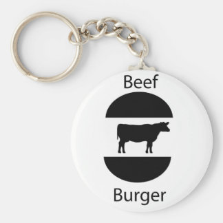 Beef burger key chain