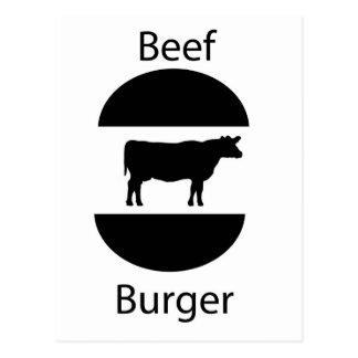 Beef burger postcard