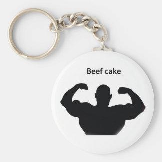 Beef cake basic round button key ring