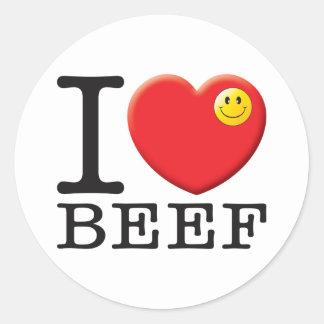 Beef Classic Round Sticker