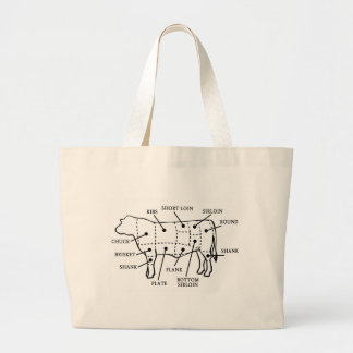 BEEF COW LARGE TOTE BAG