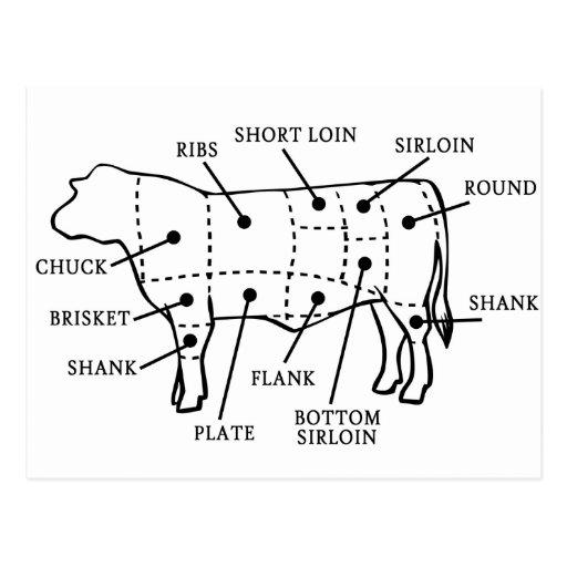 BEEF COW POSTCARDS