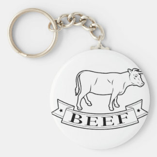 Beef food label key chains