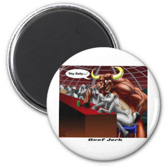 Beef Jerky Origins Funny Cow Bull Cartoon Gifts Magnet