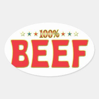 Beef Star Tag Oval Sticker
