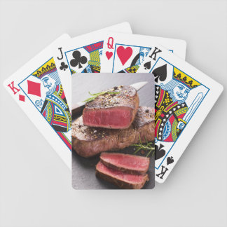 Beef steak bicycle playing cards