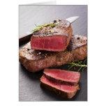 Beef steak card