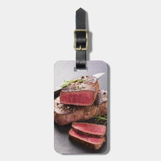 Beef steak luggage tag
