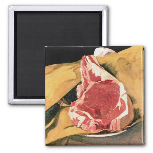 Beef Steak Vintage Art by Felix Vallotton Refrigerator Magnet
