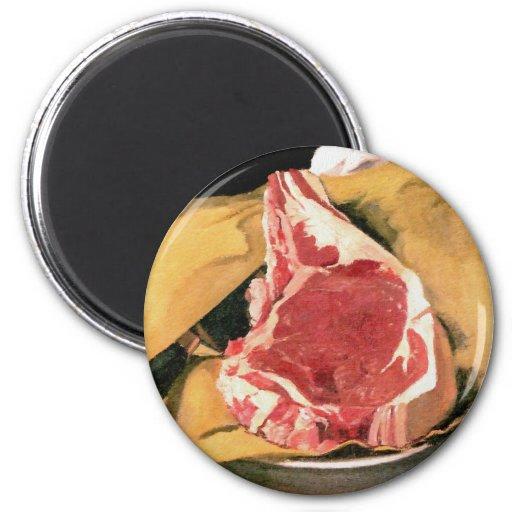 Beef Steak Vintage Art by Felix Vallotton Magnets