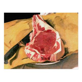Beef Steak Vintage Art by Felix Vallotton Postcard