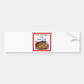 beef stew bumper sticker