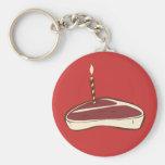 Beefcake Basic Round Button Key Ring