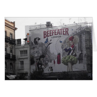 Beefeater Gin Billboard in Spain Greeting Card