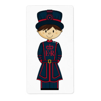 Beefeater Guard Sticker Label Shipping Label
