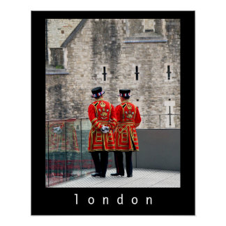 Beefeaters, London Poster