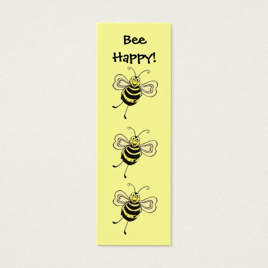 "BeeHappy! ~ ""Mini"" Bookmark Mini Business Card"