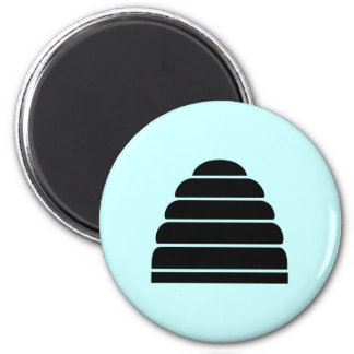 Beehive 6 Cm Round Magnet
